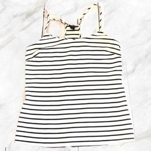 4/$30 🌷 J. Crew | Black Stripped White Sheer Top